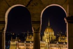 Vista di pariament di Budapest Fotografia Stock