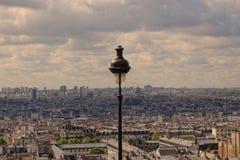 Vista di Parigi da Montmartre Fotografia Stock Libera da Diritti