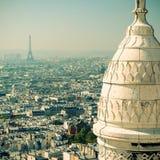 Vista di Parigi dal Sacre Coeur Fotografia Stock