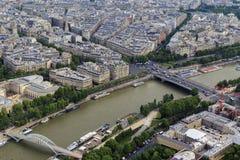 Vista di Parigi dalle altezze Immagine Stock