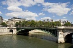 Vista di Parigi del fiume Seine Fotografia Stock
