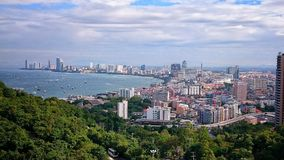 Vista di Pattaya Fotografia Stock