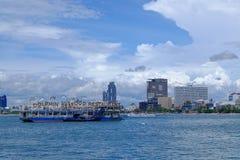 Vista di PATTAYA Tailandia dalla barca Fotografia Stock Libera da Diritti