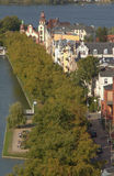 Vista di piano sulla città di Schwerin immagini stock
