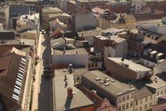 Vista di piano sulla città di Schwerin fotografia stock