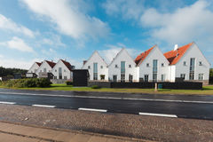 Vista di piccola città danese Immagine Stock