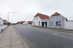 Vista di piccola città danese Fotografie Stock Libere da Diritti