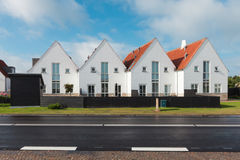 Vista di piccola città danese Fotografia Stock