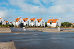 Vista di piccola città danese Fotografie Stock