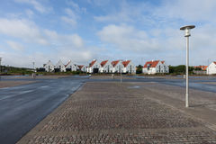 Vista di piccola città danese Fotografia Stock Libera da Diritti