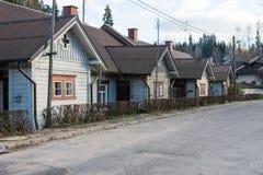 Vista di piccola città di provincia di Ligatne, Lettonia Fotografie Stock