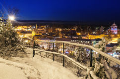 Vista di piccola città svedese Fotografia Stock Libera da Diritti