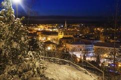 Vista di piccola città svedese Immagine Stock Libera da Diritti
