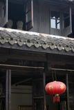Vista di piccola vecchia città in sud della Cina Immagini Stock Libere da Diritti