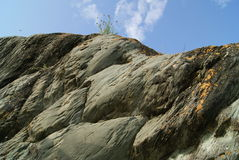 Vista di pietra del cielo della montagna Immagini Stock Libere da Diritti