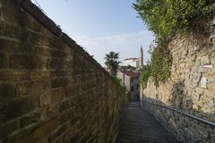 Vista di Piran, Slovenia, Europa Immagini Stock Libere da Diritti