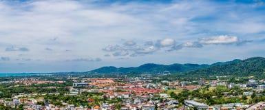 Vista di Pnorama della città di Phuket Fotografia Stock