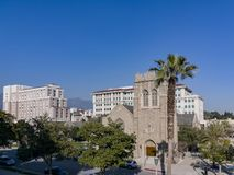 Vista di pomeriggio di bello comune di Pasadena a Los Angeles, California fotografia stock libera da diritti