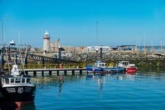 Vista di pomeriggio di bello porto di Howth immagine stock libera da diritti