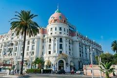 Vista di pomeriggio dell'hotel famoso Negresco immagine stock