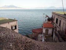 Vista di pomeriggio di Napoli immagine stock
