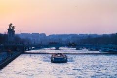 Vista di pont Alexandre III a Parigi Immagini Stock Libere da Diritti