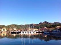 Vista di Porto Azzurro, Italia Immagine Stock