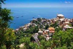 Vista di Positano, Italia Immagine Stock Libera da Diritti