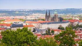 Vista di Ppanoramic di Praga, st Vitus Cathedral Immagine Stock Libera da Diritti