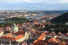 Vista di Praga Ariel Fotografie Stock