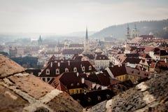Vista di Praga Ariel Immagini Stock