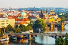 Vista di Praga capitale Fotografia Stock Libera da Diritti