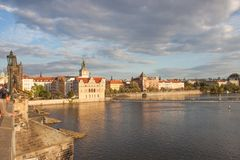 Vista di Praga da Charles Bridge Fotografia Stock Libera da Diritti