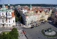 Vista di Praga da Città Vecchia Hall Tower Fotografia Stock Libera da Diritti