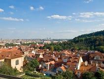 Vista di Praga dalla collina Immagine Stock Libera da Diritti