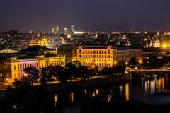 Vista di Praga nella notte Immagine Stock Libera da Diritti