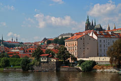 Vista di Praga (Vltava) Fotografia Stock Libera da Diritti