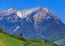 Vista di primavera dal Mt Stanserhorn in Svizzera Immagini Stock Libere da Diritti