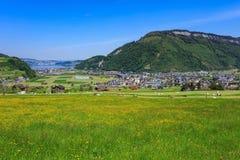 Vista di primavera dal Mt Stanserhorn in Svizzera Immagini Stock