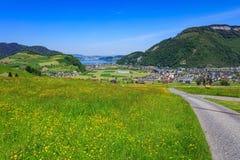 Vista di primavera dal Mt Stanserhorn in Svizzera Fotografie Stock