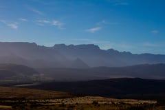Vista di primo mattino delle montagne di Cederberg Immagini Stock Libere da Diritti