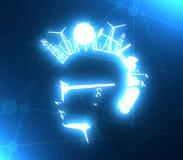 Vista di profilo dell'avatar dell'uomo illustrazione di stock