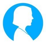 Vista di profilo della siluetta della donna Fotografie Stock Libere da Diritti