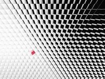 Vista di prospettiva dei cubi in bianco e nero Fotografie Stock