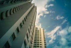 Vista di prospettiva dell'appartamento residenziale pubblico dell'alloggio in Bukit Panjang Fotografie Stock Libere da Diritti