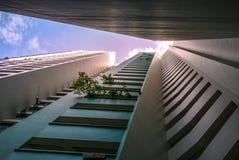 Vista di prospettiva dell'appartamento residenziale pubblico dell'alloggio in Bukit Panjang Immagine Stock Libera da Diritti