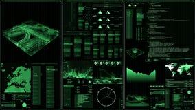 Vista di prospettiva dell'interfaccia/schermo futuristici di Digital illustrazione vettoriale