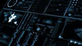 Vista di prospettiva dell'interfaccia/schermo futuristici di Digital royalty illustrazione gratis