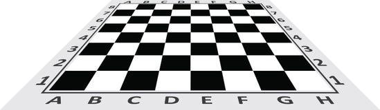 Vista di prospettiva della tavola di scacchi Immagine Stock Libera da Diritti