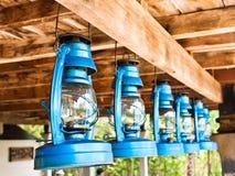 Vista di prospettiva delle lanterne di tempesta Immagini Stock Libere da Diritti